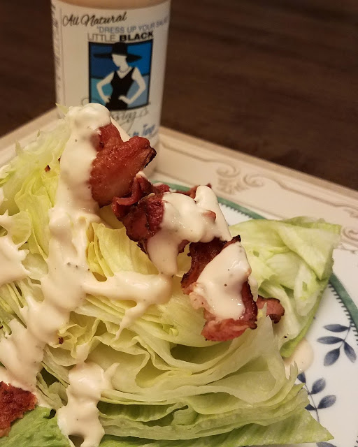 It Take Three to Tango Dressing is Perfect for a Lettuce Wedge with Bacon