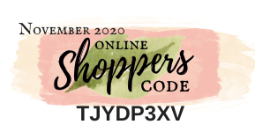 November 2020 Online Shoppers Code | Nature's INKspirations by Angie McKenzie