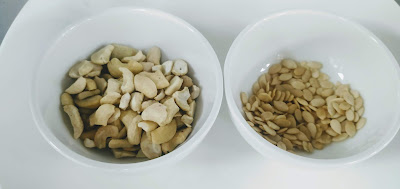 Cashew nuts and melon seeds for butter chicken Murgh makhani recipe