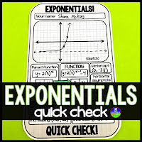 Exponential Functions Algebra warm up template