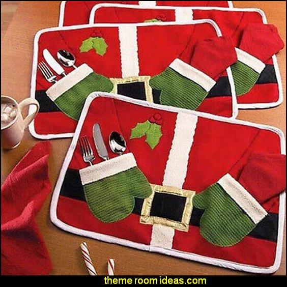 santa clause Placemat Decoration Christmas Home Party decorations