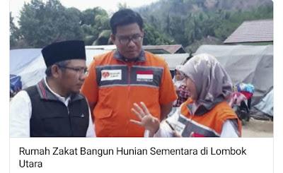 Rumah Zakat Akan Dirikan Rumah Sementara Di Lombok