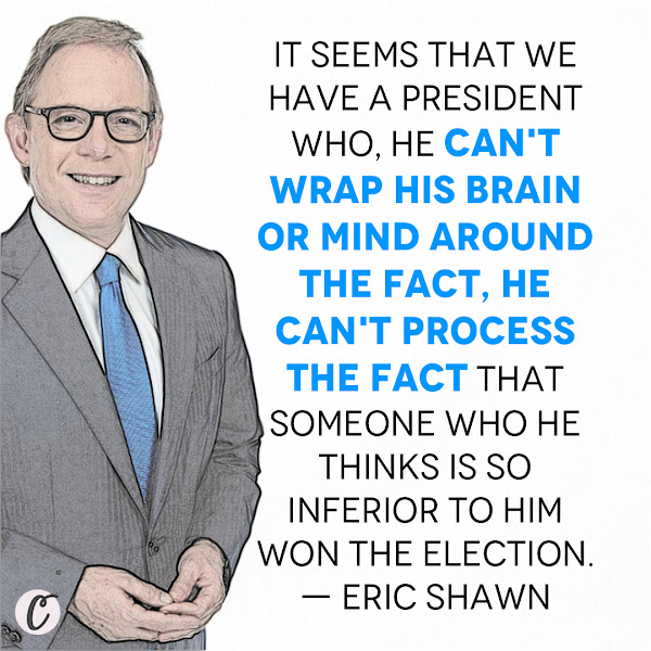 It seems that we have a president who, he can't wrap his brain or mind around the fact, he can't process the fact that someone who he thinks is so inferior to him won the election. — Eric Shawn, Fox News host