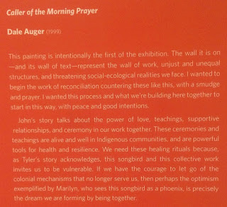 "description of The Caller of the Morning Prayer, by Dale Auger. Seen at Borealis Gallery ""The Dream We Form By Being Together"" exhibit."