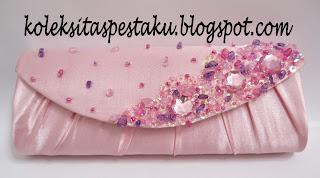 Tas Pesta Pink Baby Oval Cantik Hand Made