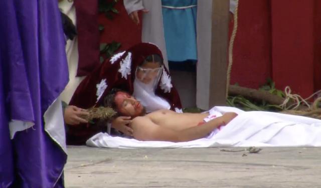 Rememora Acanceh la pasión y muerte de Jesús de Nazaret