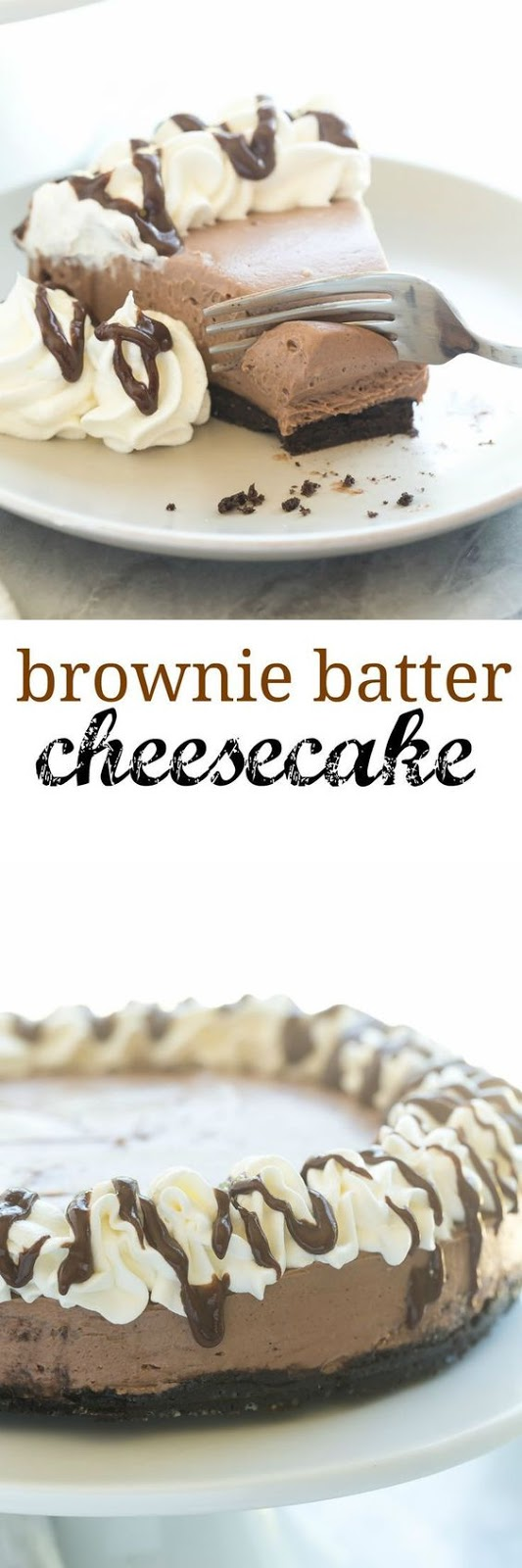 No Bake Brownie Batter Cheesecake Recipe