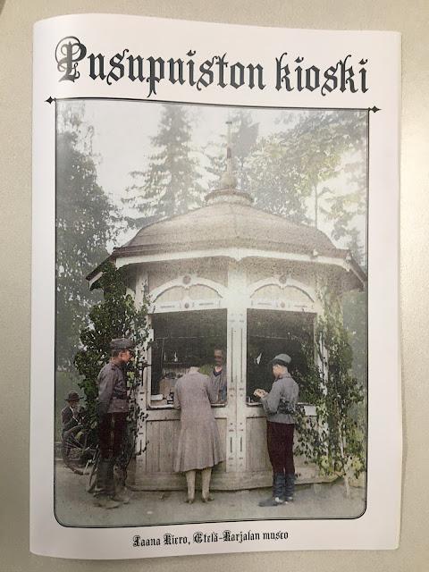 kuvassa lehti, jossa kuva vanhasta kioskista.
