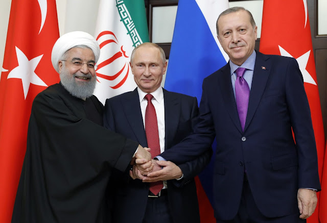Hassan Rouhani - Putin - Erdogan