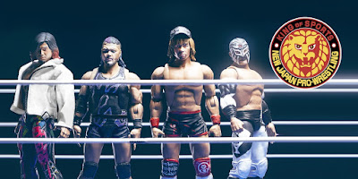 New Japan Pro Wrestling Ultimate Action Figures Series 2 by Super7 – Los Ingobernables de Japon (Tetsuya Naito, Hiromu Takahashi, Evil & Bushi)