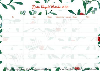 La Lista dei Regali di Natale 2018 - Download Lista in Italiano - MLI