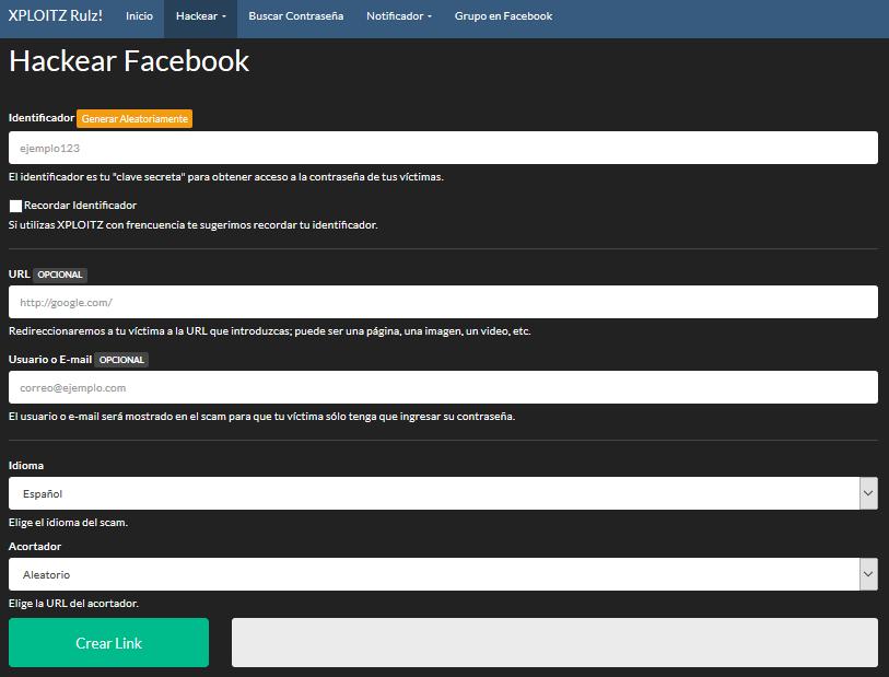 Cómo hackear una cuenta de Facebook usando XPLOITZ Rulz