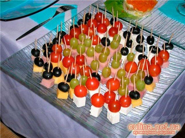 Красивые закуски на праздничный стол фото