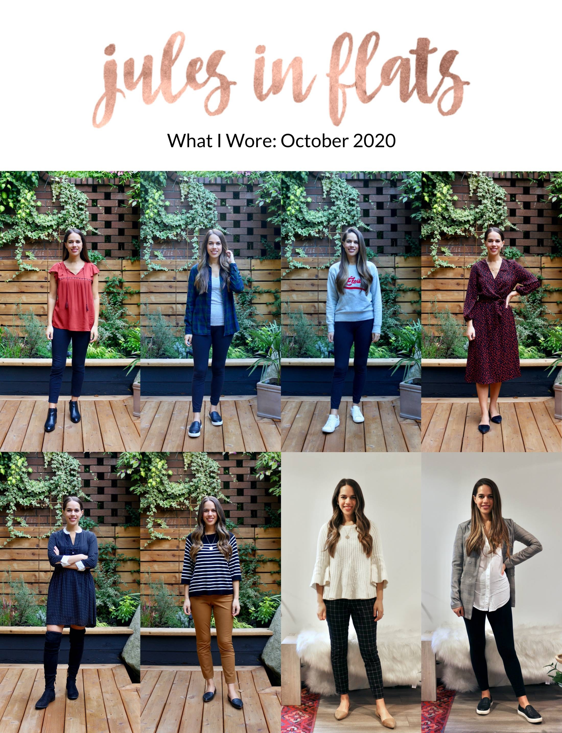 Jules in Flats - Monthly Outfit Roundup October 2020