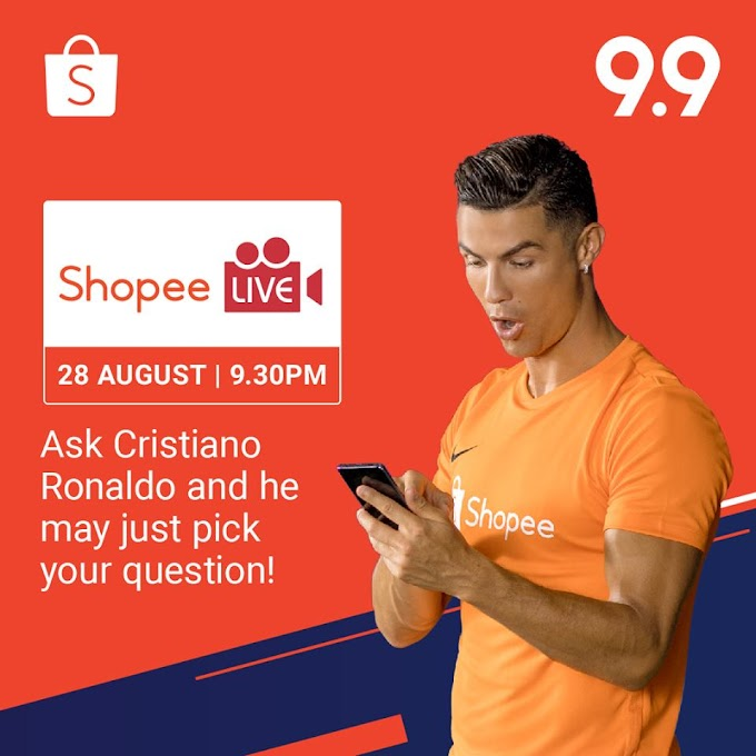 Catch Cristiano Ronaldo on Shopee Live