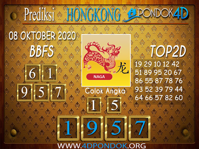 Prediksi Togel HONGKONG PONDOK4D 08 OKTOBER 2020