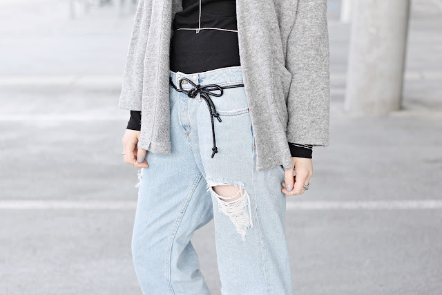 bow belt boyfriend jeans