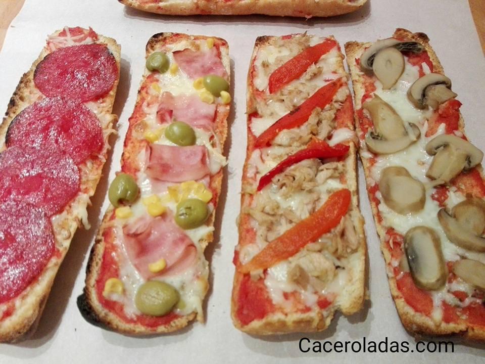 Paninis caseros o pizzas de pan