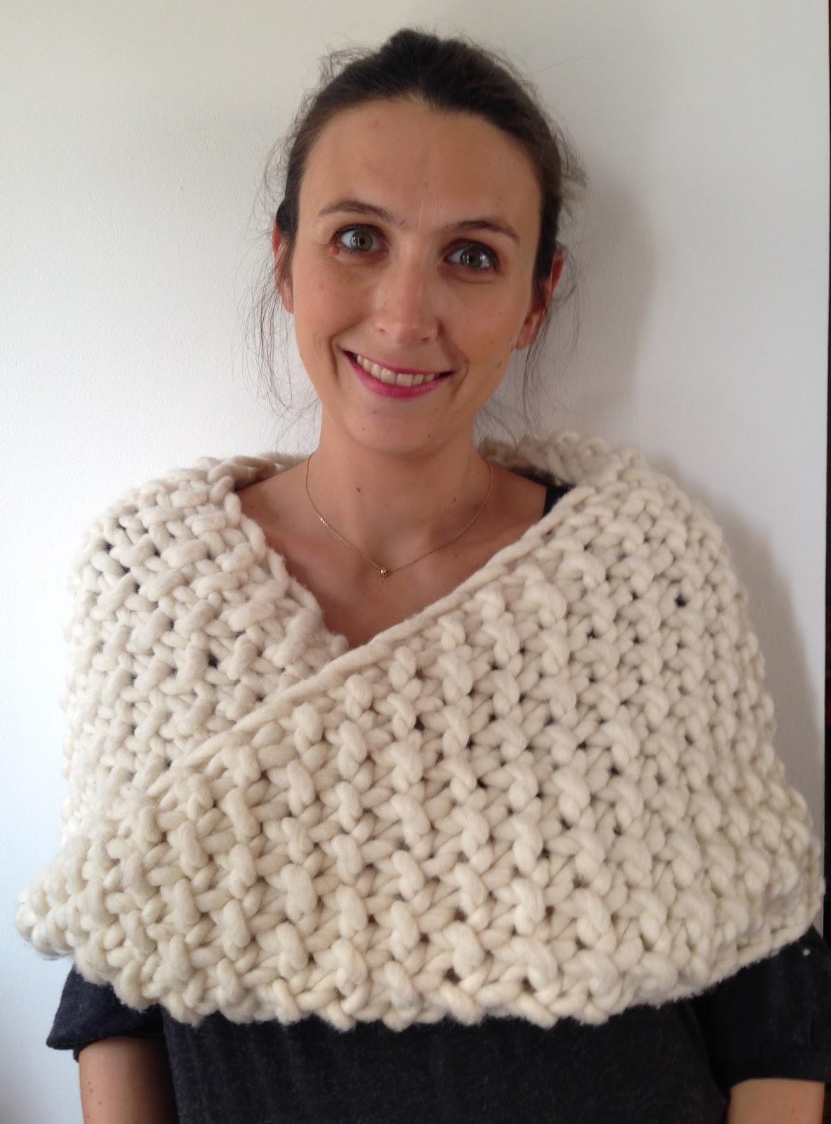 7f5b64831fc1 aufildesenvies  Modèle gratuit   un chauffe épaule ou col à tricoter ...