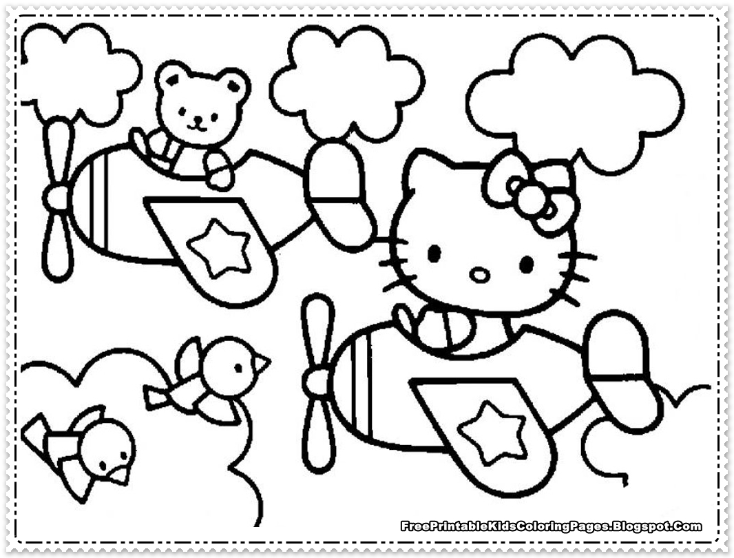 Hello Kitty Coloring Pages For Girls