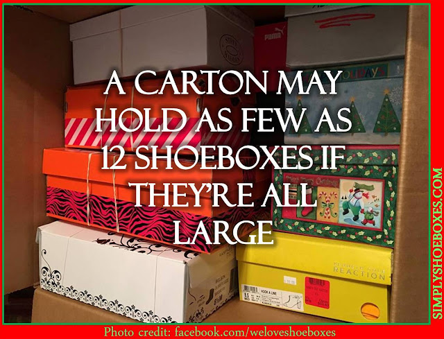Effects of using large shoeboxes for Operation Christmas Child