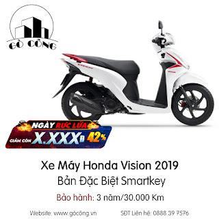 Bảng giá Xe Máy Honda Vision 2019 Bản Đặc Biệt Smartkey mới nhất tháng 12/2020