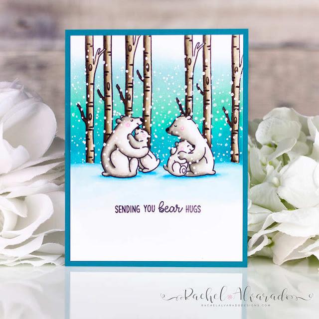 Sunny Studio Stamps: Bear Hugs Winter Themed Friendship Card by Rachel Alvarado