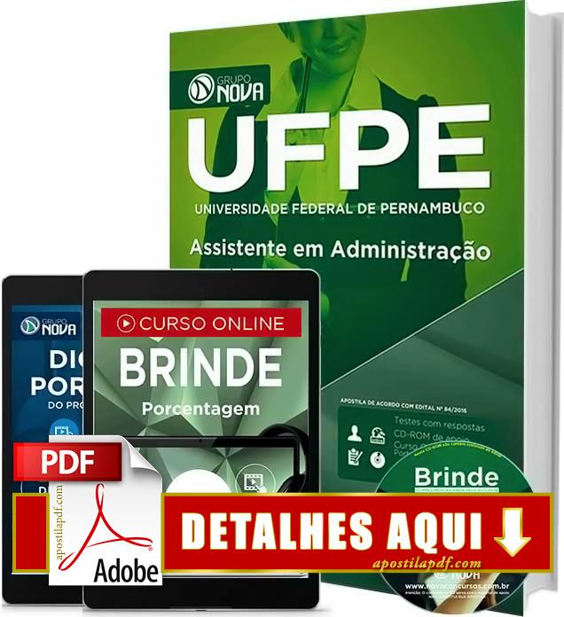 Apostila UFPE 2016 Assistente em Administração Impressa