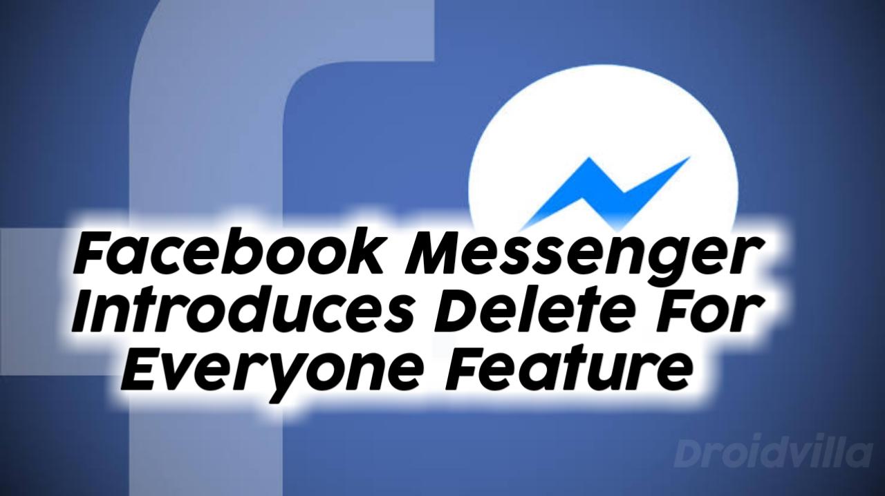 Facebook delete for everyone