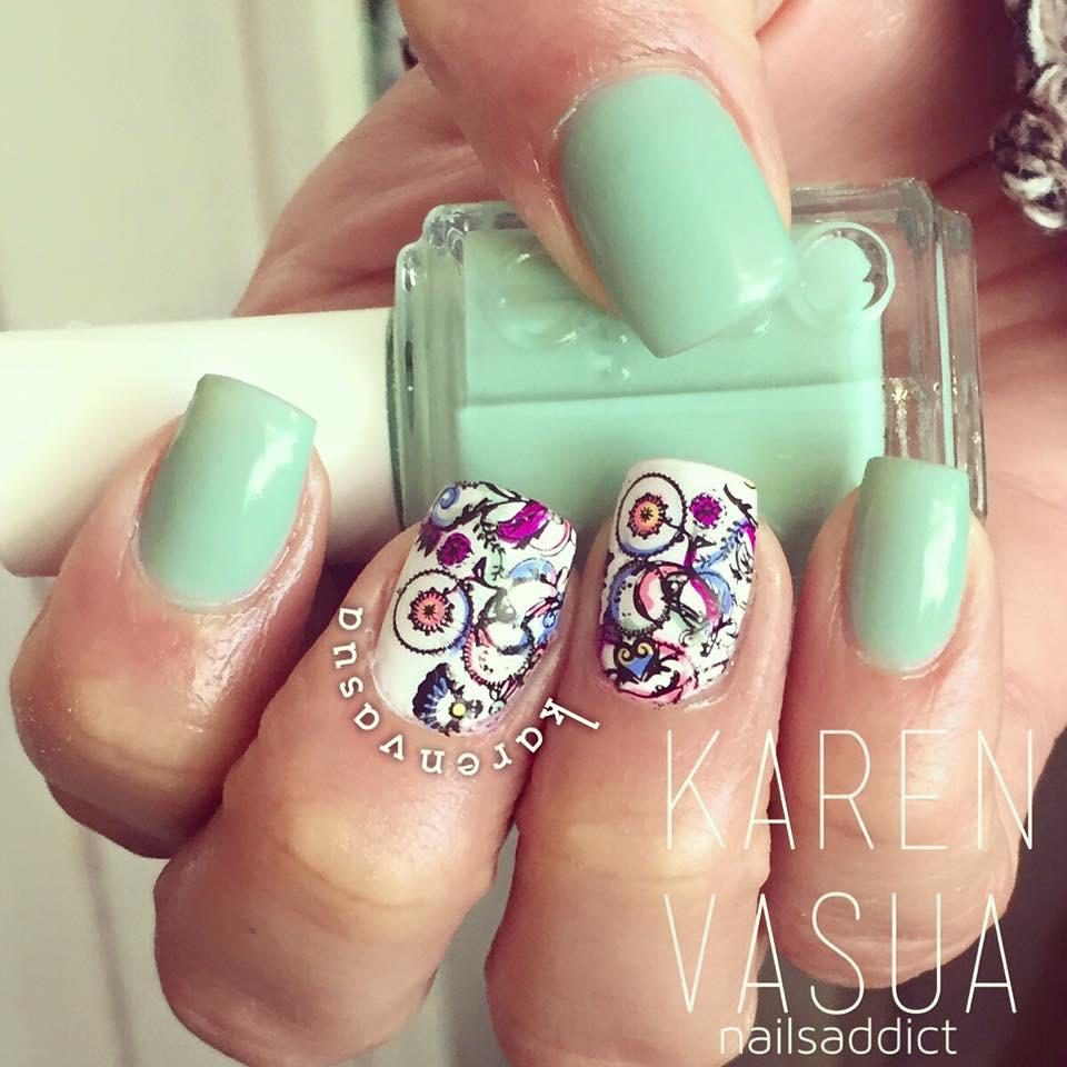 Zero Poses: Diseños de uñas hechos por Karen Vasua