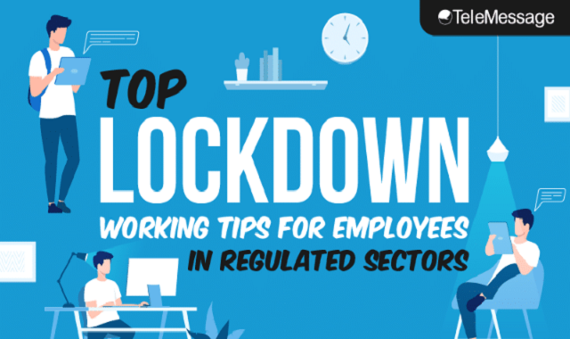 Top Lockdown Working Tips for Employees in Regulated Sectors #infographic