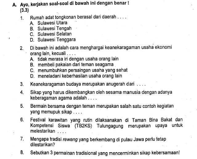Soal Semester Tema 9 Kelas 5 SD/MI