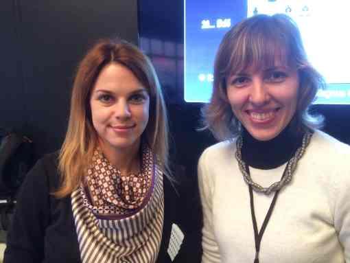 Anastasiya Karlovich et Tatiana Kostiuk au Championnat du Monde d'échecs Carlsen vs Karjakin - Photo © Chess & Strategy