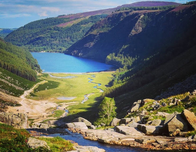 Glendalough by Public Transport - view of the lakes in Glendalough Valley