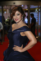 Payal Ghosh aka Harika in Dark Blue Deep Neck Sleeveless Gown at 64th Jio Filmfare Awards South 2017 ~  Exclusive 152.JPG
