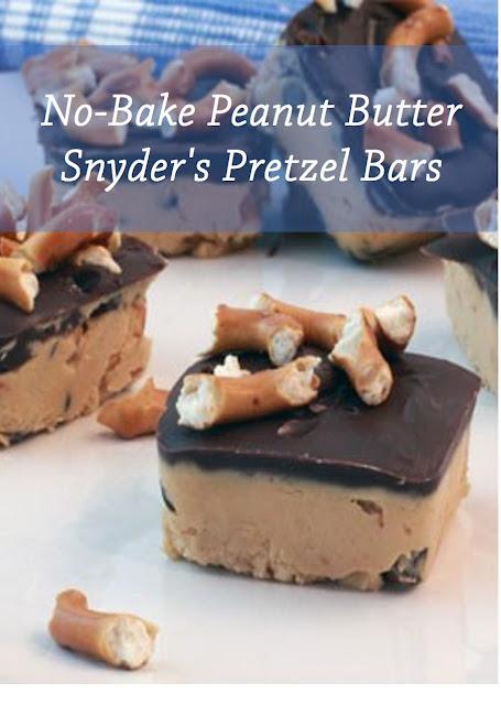 No-Bake Peanut Butter Snyder's Pretzel Bars