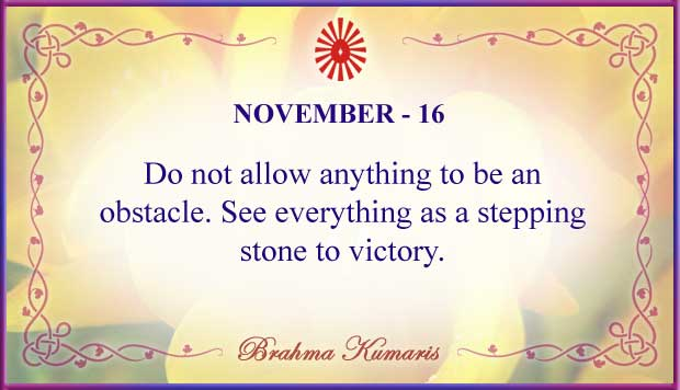 Thought For The Day November 16
