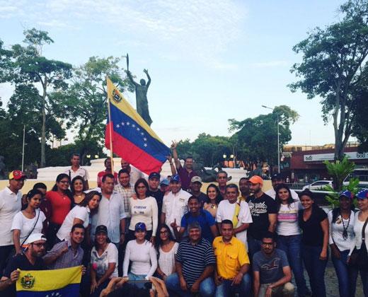"""Desde Monagas iniciaron su caminata a la """"Toma de Caracas"""""""