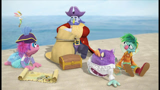 Sesame Street Episode 4305 Me Am What Me Am, Abby's Flying Fairy School Treasure Hunt, Captain Hook, Abby, Gonnigan, Blögg