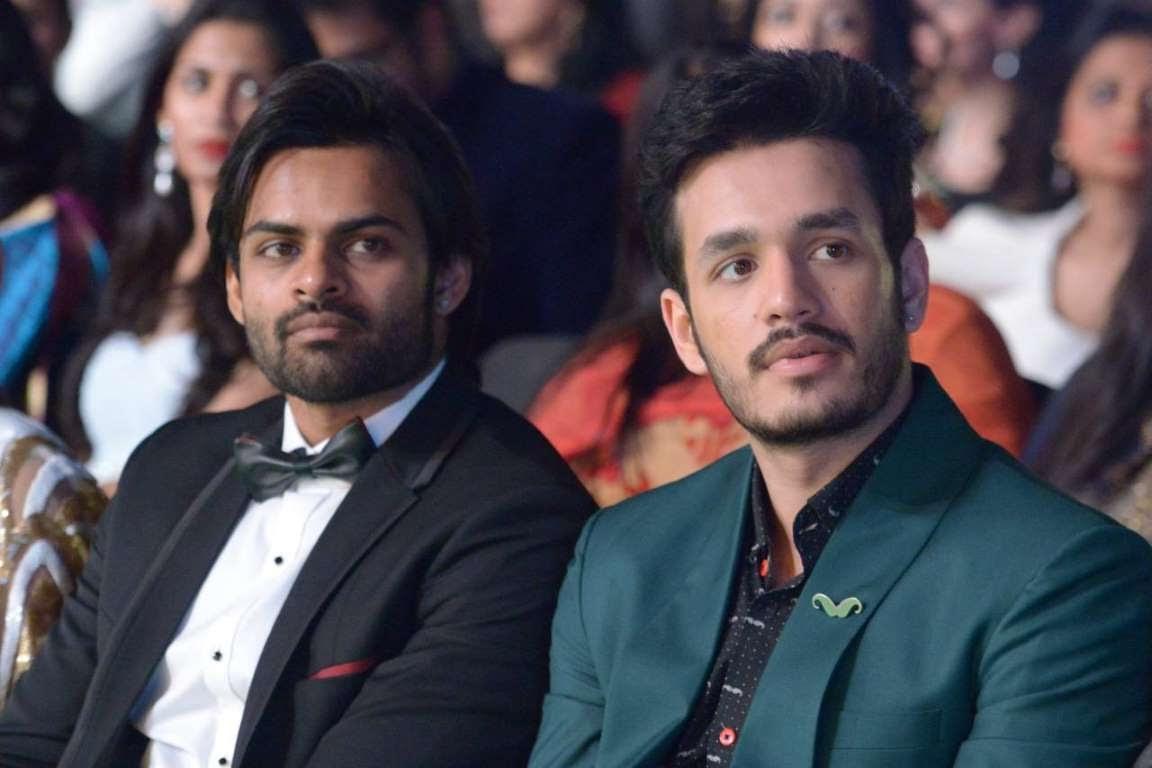 Sai Dharam Tej and Akhil Akkineni take in the proceedings