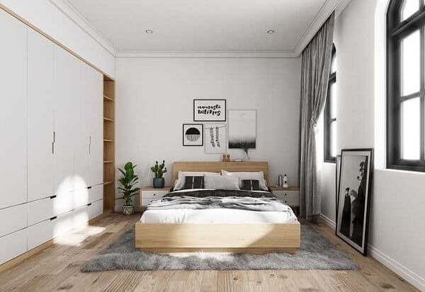 double bedroom inspiration, this widow's bed is a great