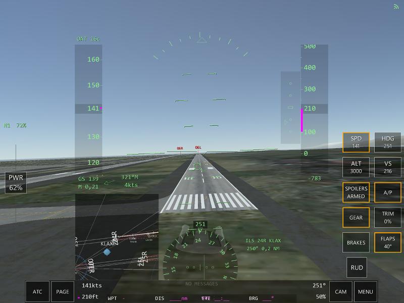 Atterrissage à Los Angeles avec le jeu Infinite Flight