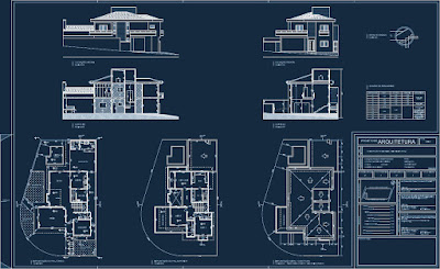 Nos projetos arquitetônicos convencionais, a planta da cobertura costuma ter escala reduzida. Porém, aqui a mesma foi detalhada na mesma proporção dos pavimentos térreo e superior.
