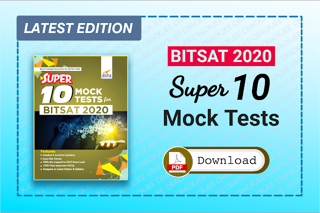 Download Disha BITSAT Super 10 Mock Tests Pdf