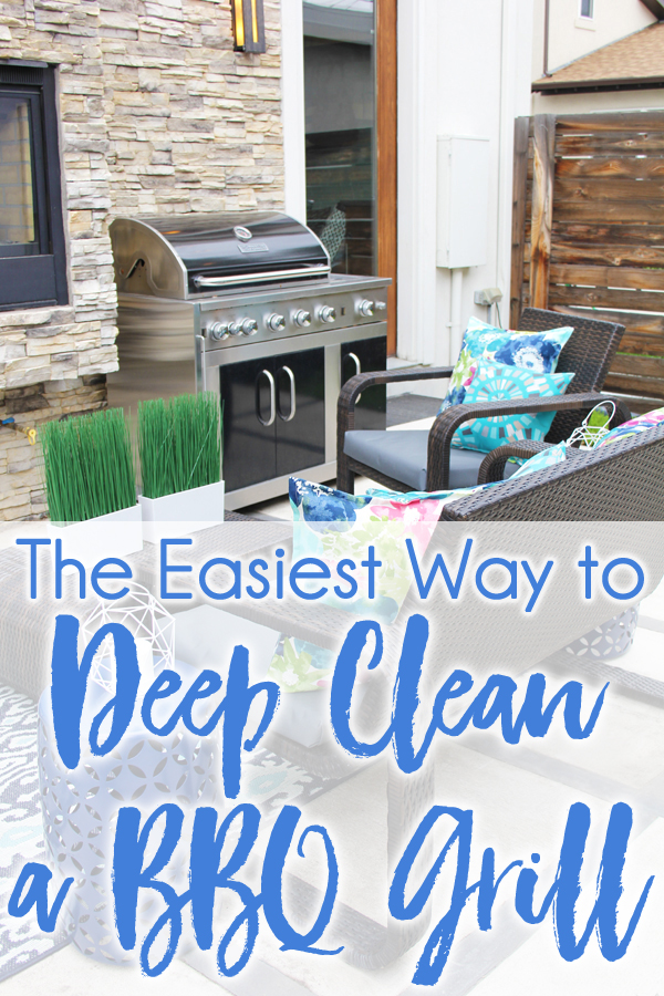 How to deep clean a BBQ grill quickly and easily without using any harsh chemicals.