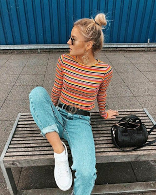 outfit retro casual juvenil femenino