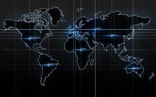 Wallpaper peta dunia keren