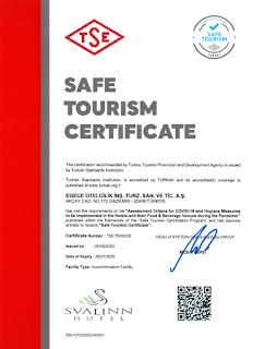 güvenli turizm sertifikalı oteller izmir