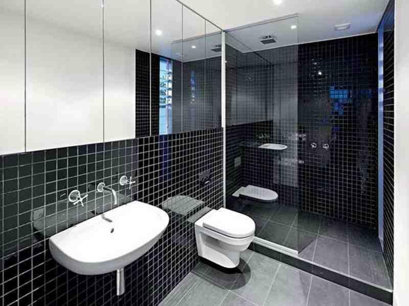 36 banheiros modernos e contemporâneos + dicas de cores e revestimentos!  De -> Dicas Banheiro Moderno