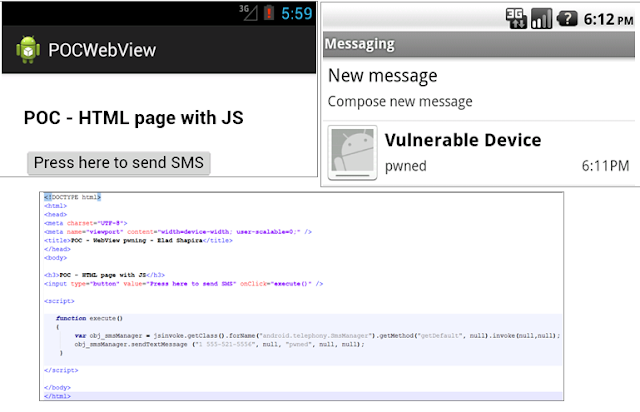 Android WebView vulnerability allows hacker to install malicious apps